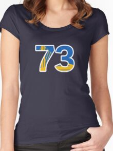 Golden State Warriors Record Breaking 73 Wins Women's Fitted Scoop T-Shirt