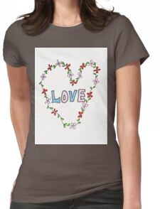 Love & flowers Womens Fitted T-Shirt