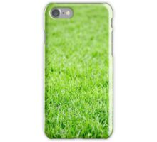 Green grass field background iPhone Case/Skin