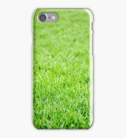 Green grass field background iPhone Case/Skin