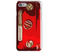 Volkswagen combi Illustration red version iPhone Case/Skin