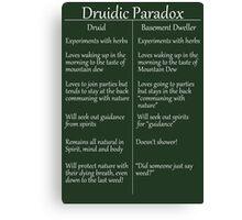 The Druidic Paradox Canvas Print