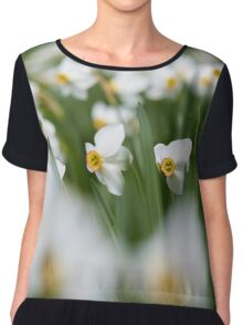 White daffodils Chiffon Top