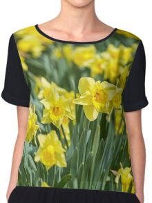 Daffodils field Chiffon Top