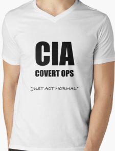CIA Covert Ops Mens V-Neck T-Shirt