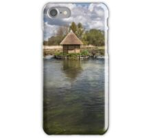 Eel Pot bridge and Fishing Hut on River Test at Longstock, Hampshire, England, UK. iPhone Case/Skin