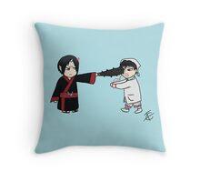 Chibi Hoozuki and Hakutaku  Throw Pillow