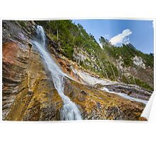 Waterfall in the mountains Poster