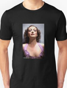 Colorized Joan Crawford in 1935 No More Ladies Unisex T-Shirt