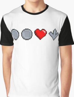 Two quarters and a heart down Graphic T-Shirt