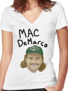 Mac DeMarco - Good Molestor Women's Fitted V-Neck T-Shirt