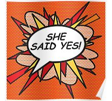 Comic Book SHE SAID YES Poster
