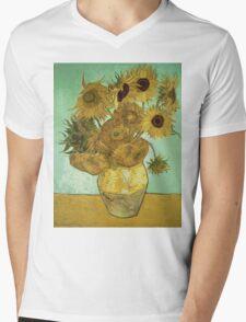 Vincent Van Gogh - Sunflowers  Mens V-Neck T-Shirt