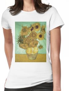 Vincent Van Gogh - Sunflowers  Womens Fitted T-Shirt