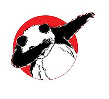 Panda Dab Dance Style Photographic Print