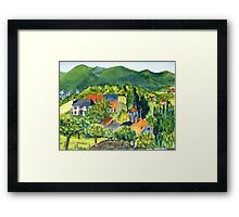 Mountain village, France Framed Print