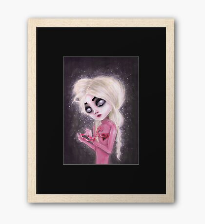 lost forever in a dark space Framed Print