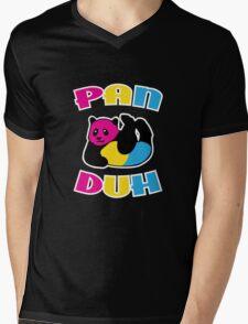 Pan Duh Panda Pansexual LGBT Pride Mens V-Neck T-Shirt