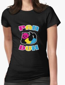 Pan Duh Panda Pansexual LGBT Pride Womens Fitted T-Shirt