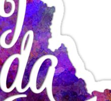 Idaho US State in watercolor text cut out Sticker