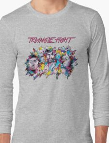 Triangle Fight's Face-Splash Long Sleeve T-Shirt