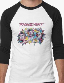 Triangle Fight's Face-Splash Men's Baseball ¾ T-Shirt