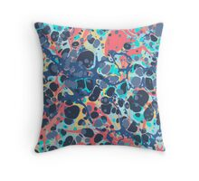 Urban Hip Hop Splash Psychedelic Colors Abstract Pattern Throw Pillow
