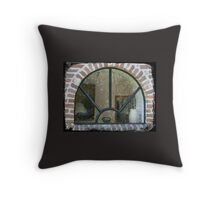 Arched window with horse Throw Pillow