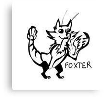 Foxter Canvas Print