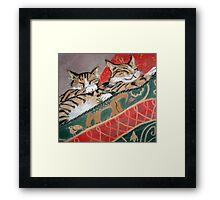 Kittens Sleeping Framed Print