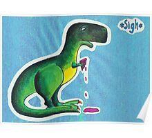 T-rex eats ice cream Poster