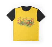 Marigold Garden and Parrot Graphic T-Shirt