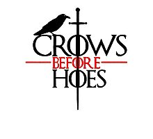 Game of Thrones Crows before Hoes Jon Snow Photographic Print