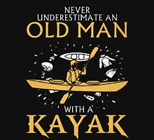 old man with a kayak Unisex T-Shirt