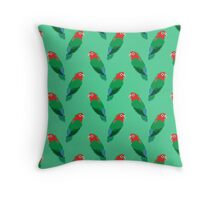 8-bit Lovebird Pattern Throw Pillow