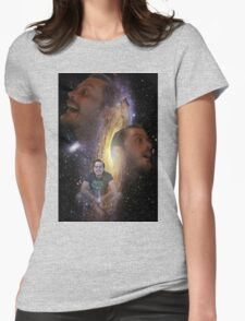 The Space Face Womens Fitted T-Shirt