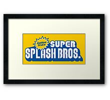 Super Splash Bros. Framed Print
