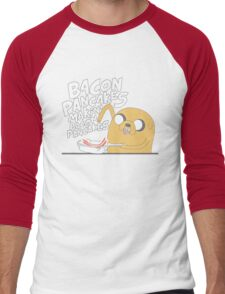 Jake  Bacon Pancakes adventure time Men's Baseball ¾ T-Shirt