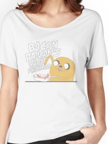 Jake  Bacon Pancakes adventure time Women's Relaxed Fit T-Shirt