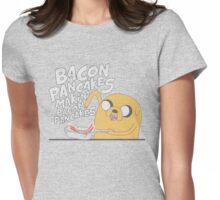 Jake  Bacon Pancakes adventure time Womens Fitted T-Shirt