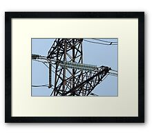 Insulators High Voltage power lines Framed Print
