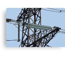 Insulators High Voltage power lines Canvas Print