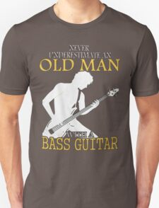 old man with a bass guitar Unisex T-Shirt