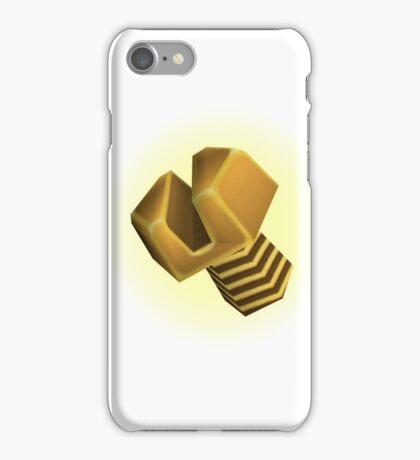 Golden bolt iPhone Case/Skin