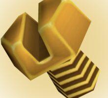 Golden bolt Sticker