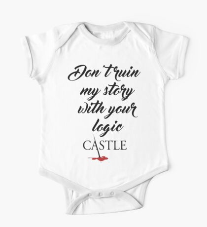 Castle quote One Piece - Short Sleeve
