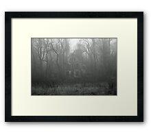 House in the Fog Framed Print