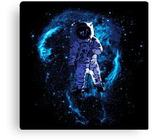 Space - Astronaut standing in the Nebula Canvas Print