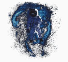 Space - Astronaut standing in the Nebula One Piece - Short Sleeve