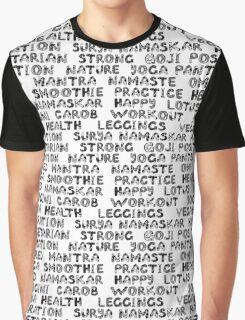 Yoga text  Graphic T-Shirt